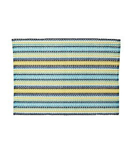 Image of Fiesta Siesta Striped Woven Cotton Placemat