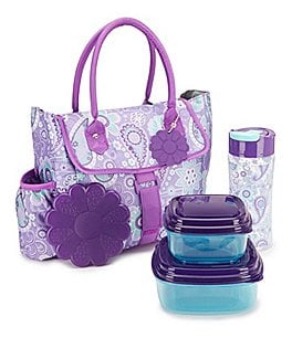 Image of fit & fresh Eliza Paisley Insulated Lunch Kit