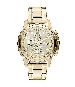 Image of Fossil Dean Goldtone Stainless Steel Chronograph Watch