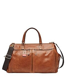 Image of Fossil Defender Framed Leather Duffle