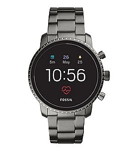 Image of Fossil Q Gen 4 Explorist Hr Stainless Steel Smartwatch