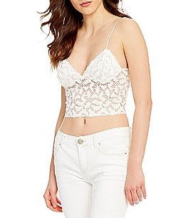 Image of Free People Intimately FP Lacey Cropped Lace Camisole