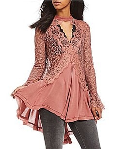 Image of Free People Tell Tale Lace Tunic