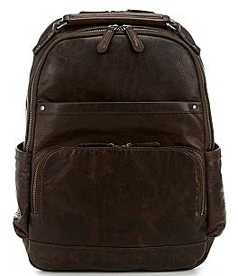Image of Frye Logan Burnished Leather Backpack