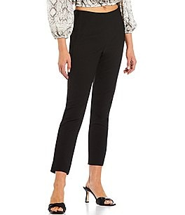 Image of Gianni Bini Houston Twill High Rise Slim Leg Pant