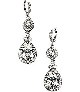 Image of Givenchy Crystal Drop Earrings