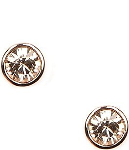 Image of Givenchy Rose Gold Stud Earrings