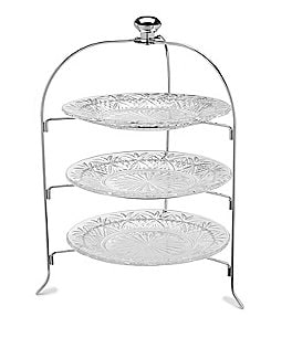 Image of Godinger Dublin 3-Tier Crystal Server