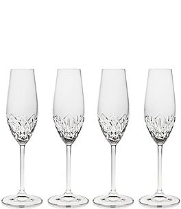 Image of Godinger Reserve Crystal Flutes, Set of 4
