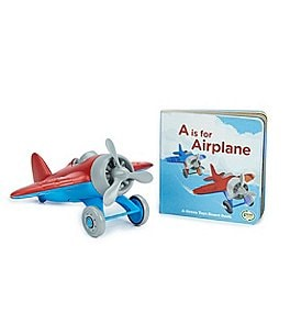 Image of Green Toys Airplane & Board Book Set