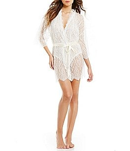 Image of Hanky Panky Alexandra Scalloped Chantilly Lace Robe