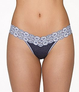 Image of Hanky Panky Heather Jersey Low-Rise Thong
