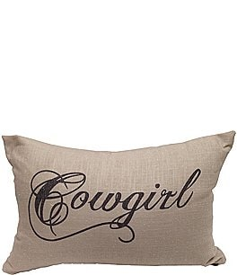 Image of HiEnd Accents Cowgirl Linen Oblong Pillow