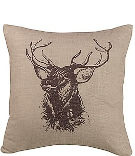 Image of HiEnd Accents Elk Bust Pillow