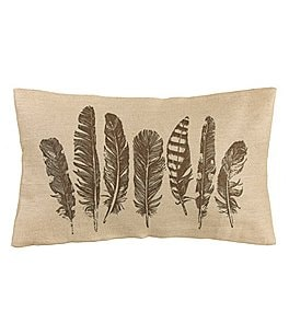 Image of HiEnd Accents Feather Burlap Pillow