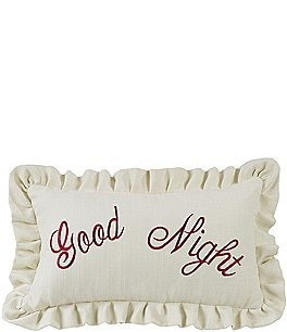 "Image of HiEnd Accents ""Good Night"" Embroidery Pillow"