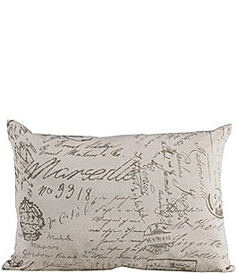 Image of HiEnd Accents Printed Linen Pillow