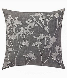 Image of Highline Bedding Co. Adelais Floral-Embroidered Square Pillow