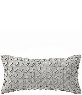Image of Highline Bedding Co. Adelais Ribbon-Textured Faux-Suede Pillow