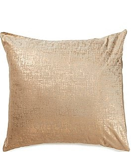 Image of Highline Bedding Co. Madrid Metallic Velvet Euro Sham