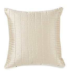 Image of Highline Bedding Co. Madrid Quilted Satin Square Pillow