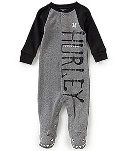 Image of Hurley Baby Boys Newborn-9 Months Long-Sleeve Creature Footed Coverall