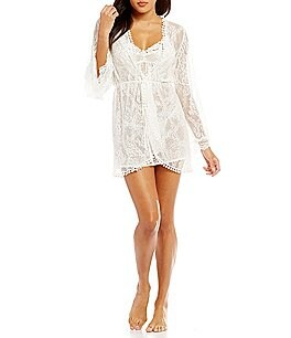 Image of In Bloom by Jonquil Brooke Lace Wrap Robe
