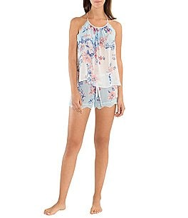 Image of In Bloom by Jonquil Porcelain Rose Chiffon Shorty Pajamas