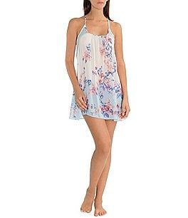 Image of In Bloom by Jonquil Porcelain Rose Printed Chiffon Racerback Chemise