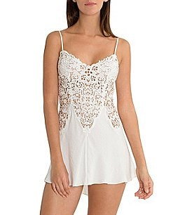 Image of In Bloom by Jonquil Vintage Crochet Tie-Back Chemise