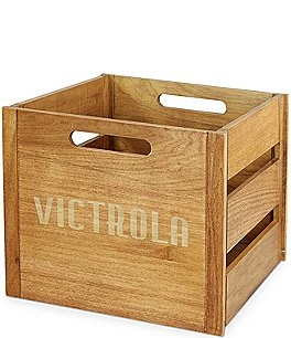 Image of Innovative Technology Victrola Wooden Record and Vinyl Crate