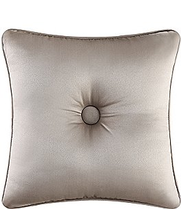 Image of J. Queen New York Astoria Button-Tufted Satin Square Pillow