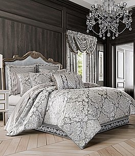 Image of J. Queen New York Belaire Damask Velvet Comforter Set