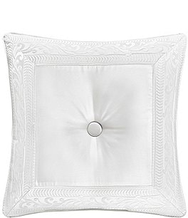Image of J. Queen New York Bianco Button-Tufted Satin Square Pillow