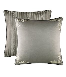 Image of J. Queen New York Corinna Scroll & Striped Reversible Satin Euro Sham