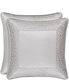 "Image of J. Queen New York La Scala Silver 18"" Square Pillow"