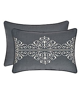 Image of J. Queen New York Miranda Scroll-Embroidered Breakfast Pillow