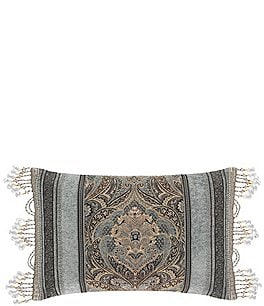 Image of J. Queen New York Provence Beaded Tasseled Boudoir Pillow