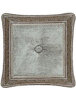 Image of J. Queen New York Provence Button-Tufted Chenille Square Pillow