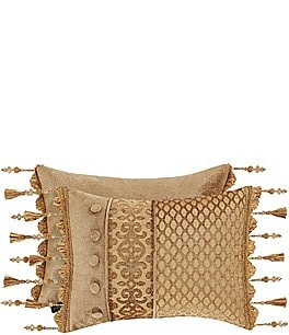 Image of J. Queen New York Siciliy Gold Tassel Fringe Boudoir Pillow
