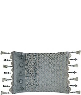 Image of J. Queen New York Sicily Pieced Fringe Boudoir Pillow