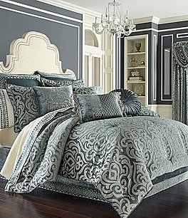 Image of J. Queen New York Sicily Puffed Damask Comforter Set