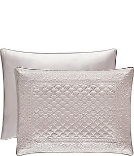 Image of J. Queen New York Zilara Embroidered Quilted Satin Sham