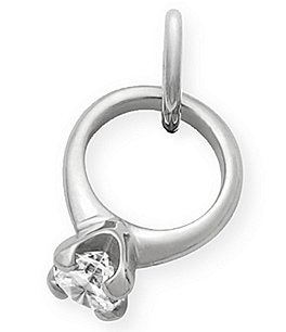 Image of James Avery Engagement Ring Charm with Cubic Zirconia