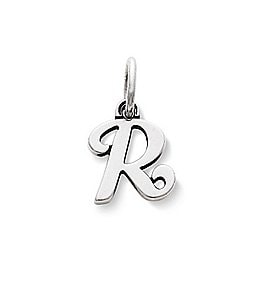 Image of James Avery Sterling Silver Script Initial Bracelet or Necklace Charm