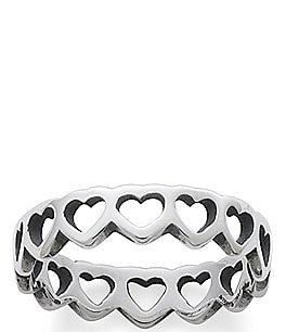 Image of James Avery Tiny Hearts Band Ring