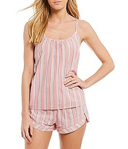 Image of Jasmine & Ginger Striped Woven Sleep Tank