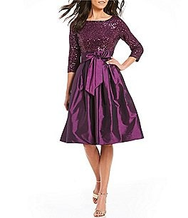 Image of Jessica Howard Sequined Taffeta Party Dress