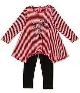 Image of Jessica Simpson Baby Girls 12-24 Months Sparkle Long-Sleeve Top & Leggings Set