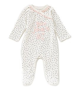 Image of Jessica Simpson Baby Girls Newborn-9 Months Bonjour Footed Coverall